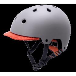 Image of   KALI SAHA mat grå/orange cykelhjelm
