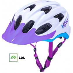 KALI Pace cykelhjelm med LDL, mat hvid/lilla