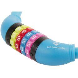 M-Wave DS 12.6,5 cykellås med kode, blå