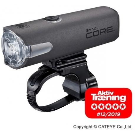 Cykelhjelm Cateye Sync Core HL-NW100RC USB opladelig forlygte, 500 lumen