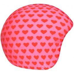 Pink red hearts hjelmbetræk fra CoolCasc