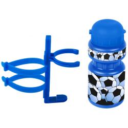 Drikkeflaske med fodbold motiv og holdere