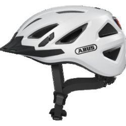 Abus Urban-I 3.0 polar white cykelhjelm m. LED-baglygte
