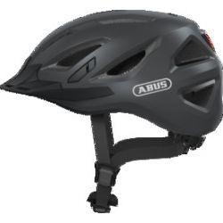 Abus Urban-I 3.0 titan cykelhjelm m. LED-baglygte