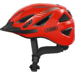 Abus Urban-I 3.0 Signal orange cykelhjelm m. LED-baglygte