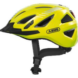 Abus Urban-I 3.0 Signal yellow cykelhjelm m. LED-baglygte