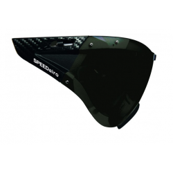 SPEEDmask Carbonic Visor grey-sil. flash hjelm briller fra casco passer til SPEEDairo, SPEEDSTER, ROADSTER