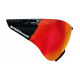 Visier SPEEDmask Carbonic red Multilayer hjelm briller fra casco passer til SPEEDairo, SPEEDSTER, ROADSTER