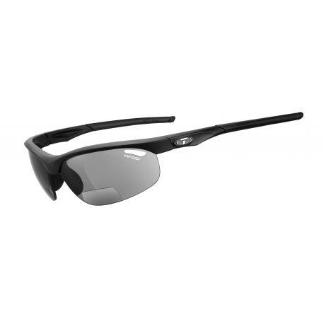 Cykelhjelm Tifosi Veloce mat sort Smoke Reader +1.5 cykelbriller