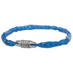 Messingschlager kædelås m. kode blå