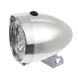 M-wave - LED Retro Cykellygter til alle cykler, sølv