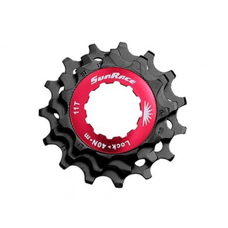 Køb Sunrace 11 speed Låsering + 11-13-15T Sort