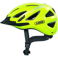 Abus Urban-I 3.0 MIPS signal yellow - cykelhjelm m. LED-baglygte