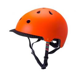 KALI SAHA mat orange cykelhjelm